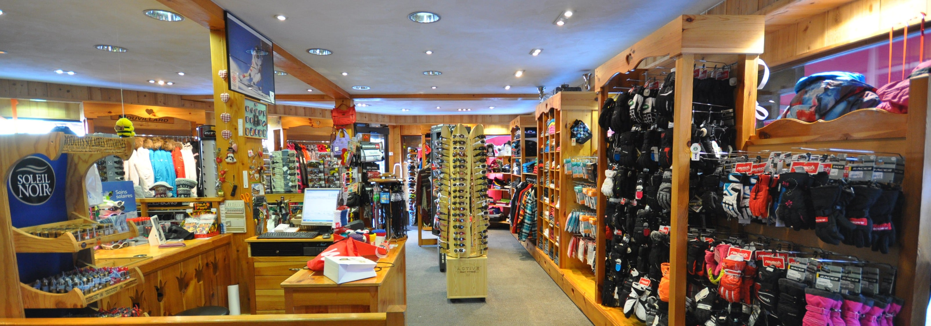 Sports is not only a rental ski shop but also a clothes store